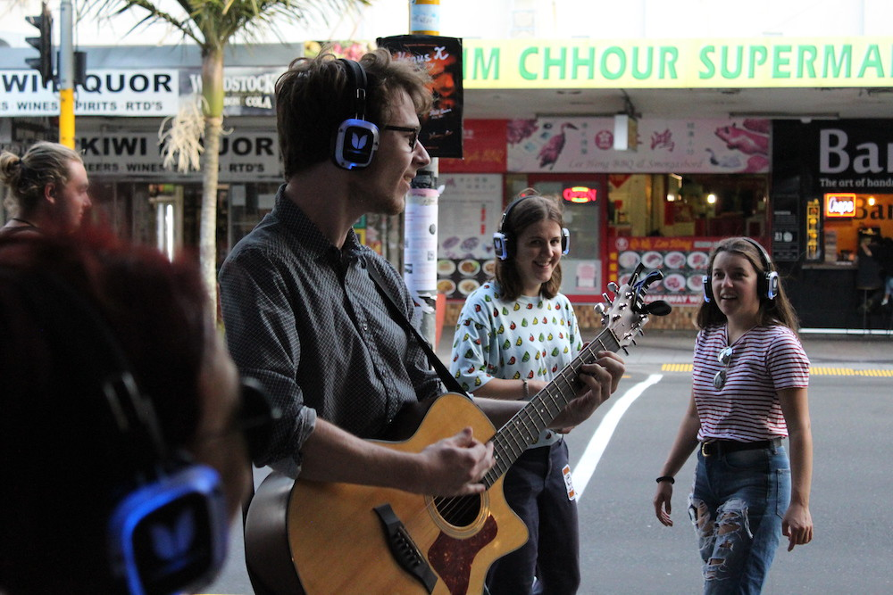 Interactive Busking Performance