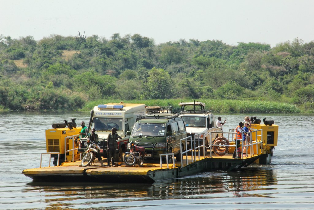 Ferry across the Nile, Murchison Falls National Park
