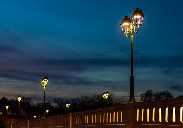 Blue hour - Pont Mendes France, Condom, Gers, France.