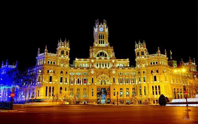 Madrid nocturno III - Palacio de Comunicaciones