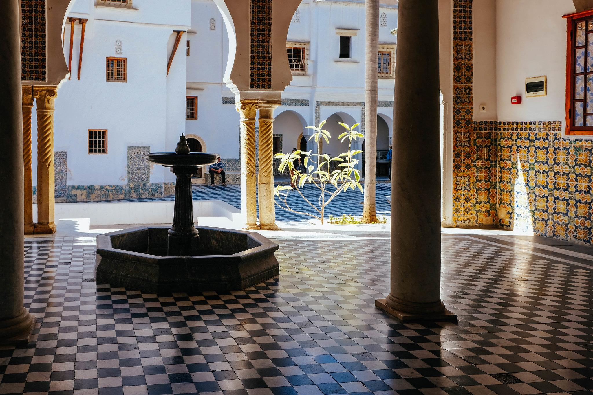 Inside the Bardo Museum, Algiers