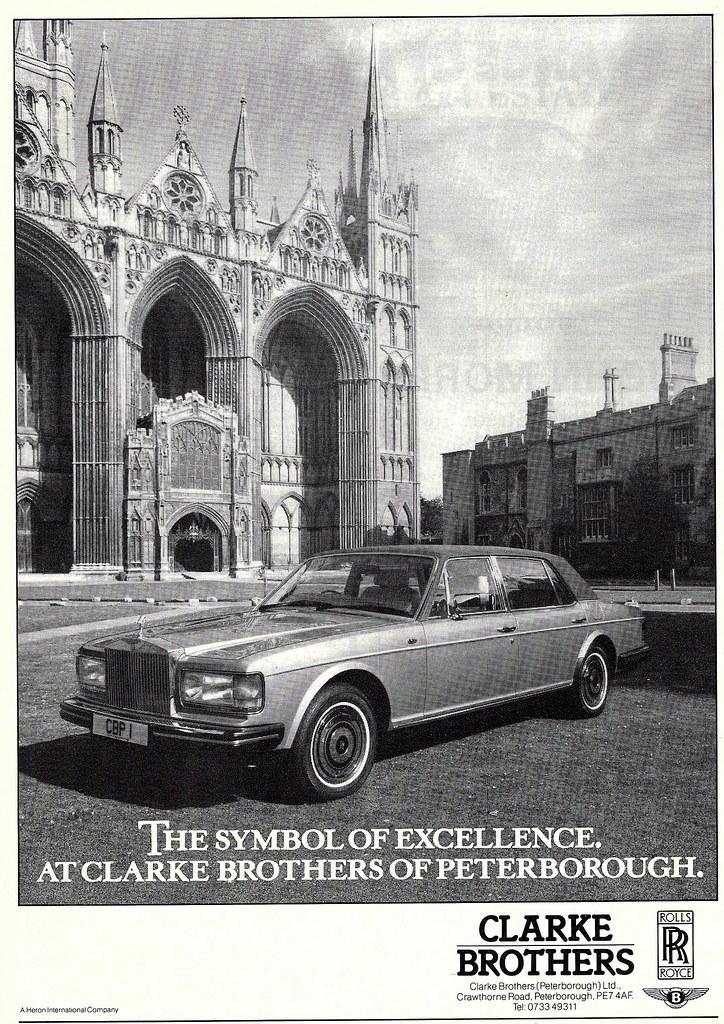 Rolls Royce Dealers >> 1987 Advert Clarke Brothers Rolls Royce Dealers Peterbor Flickr