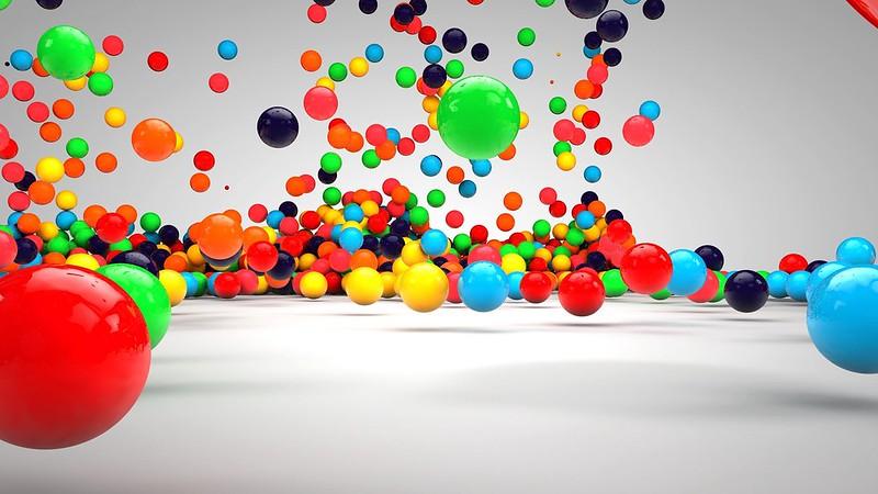 Обои шары, падение, поверхность, разноцветный картинки на рабочий стол, фото скачать бесплатно