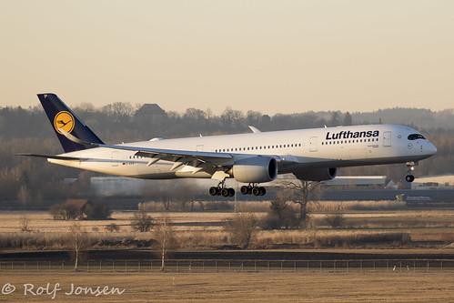 D-AIXA Airbus A359-900 Lufthansa Munich Airport EDDM 28.02-19   by rjonsen