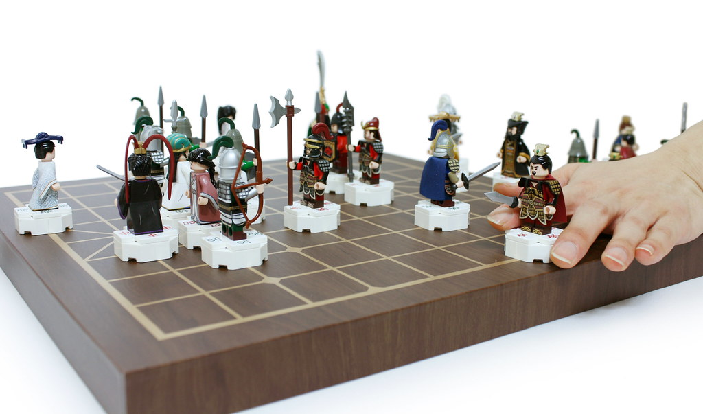 Customized LEGO mini figures chinese chess set.