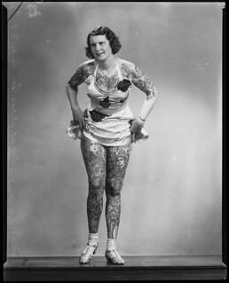 Tattooed lady Betty Broadbent, 4 April 193