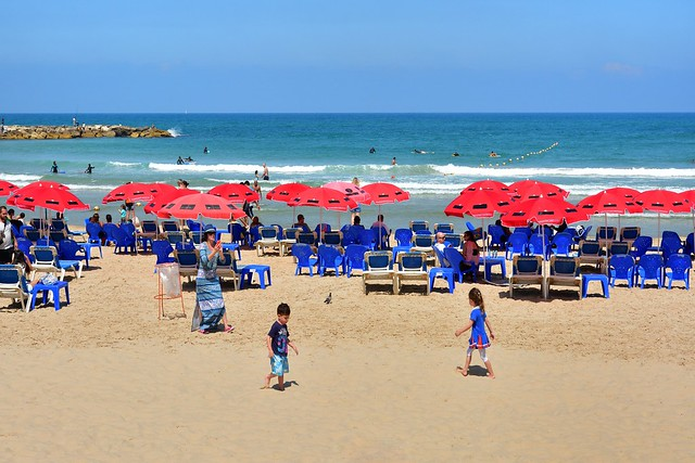 Tel Avi beach / view from Homat HaYam Promenade