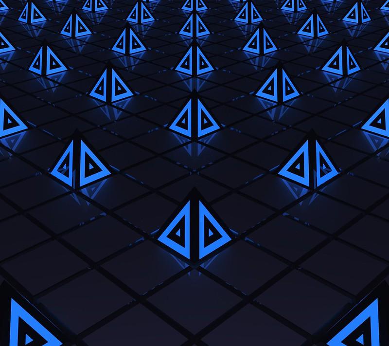 Обои треугольники, треугольник, подсветка, формы картинки на рабочий стол, фото скачать бесплатно
