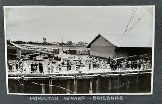 Taken from a ship departing Hamilton wharf in Brisbane, Qld - 1937