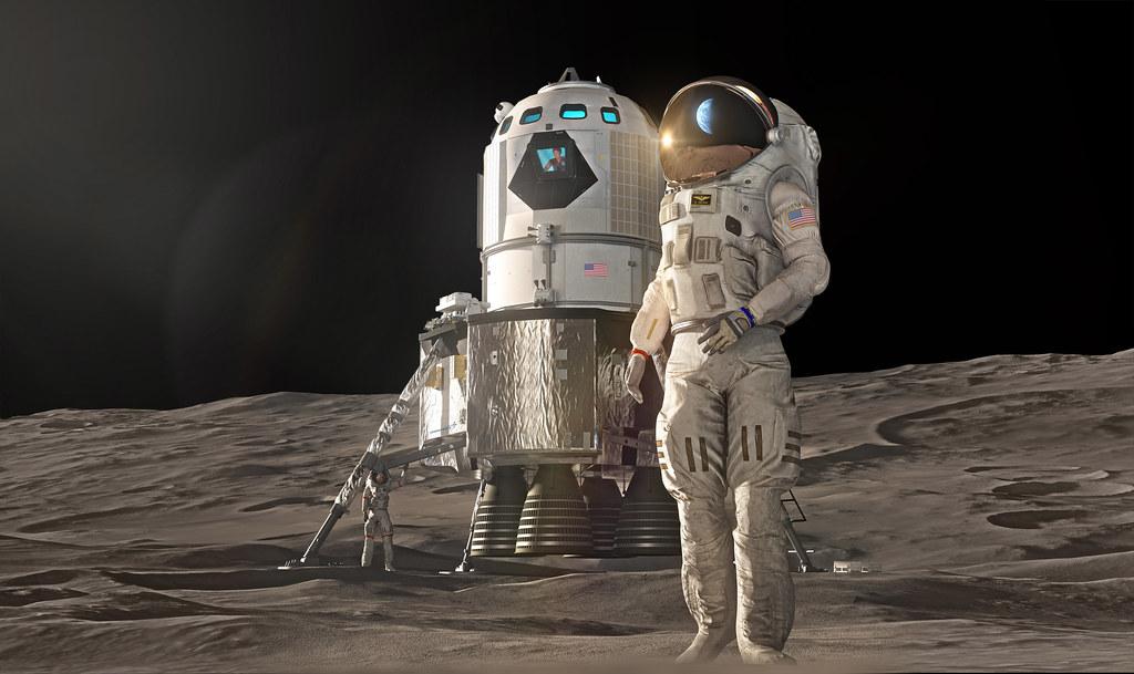 Two-stage Crewed Lunar Lander Concept