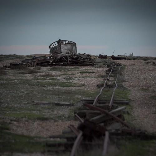 wreck beach nikon winter derelict boat rust tamronsp70300f456vcusd pebbles railway dungeness kent sunset d7100 bleak alone ruin abandoned england