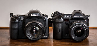 Duel // Canon EOS-10D (2003) / Olympus E-1 (2003) | by maoby