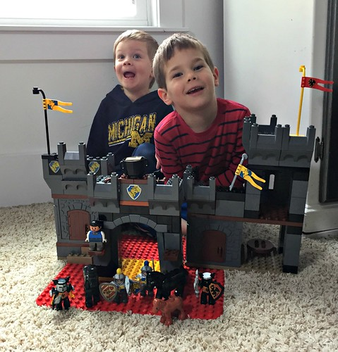 playing with legos