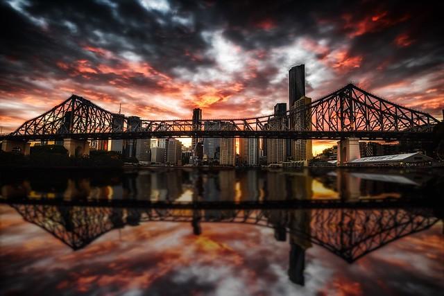 Brisbane stormy sunset