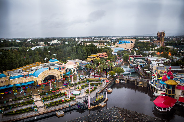 Disney Resort view from Pixar Pal-A-Round in DCA