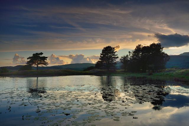 Kelly Hall sunset