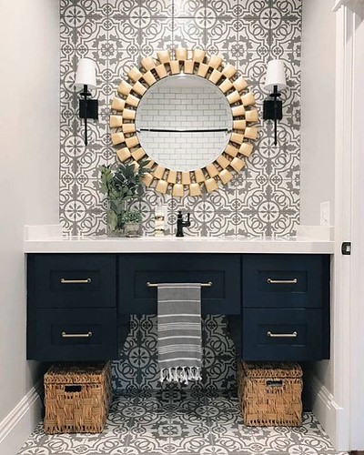 Since you asked for gorgeous tile inspiration, here you go, hope this stunning bathroom works 😍 #handmade #tile #art . . . #interiordecor #homedecor #interiordesign #homeinteriors #interiordesigners #instadecor #instagood #homedesign #decor #in | by mosaics.lab