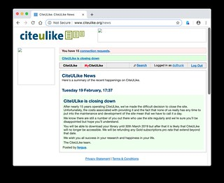 R.I.P. citeulike.org (2004–2019) it was fun while it lasted   by dullhunk