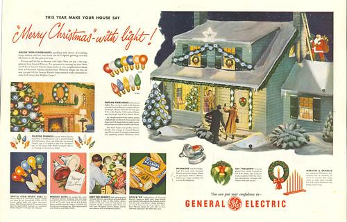 GE Christmas Lights 1949