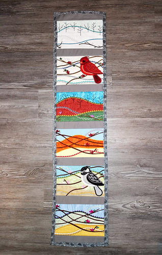 Bird Seasons Table Runner | by Christy @ Raining Crafts & Dogs