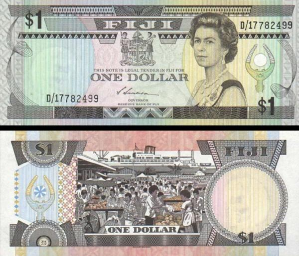 1 fidžijský dolár Fidži 1987, P86