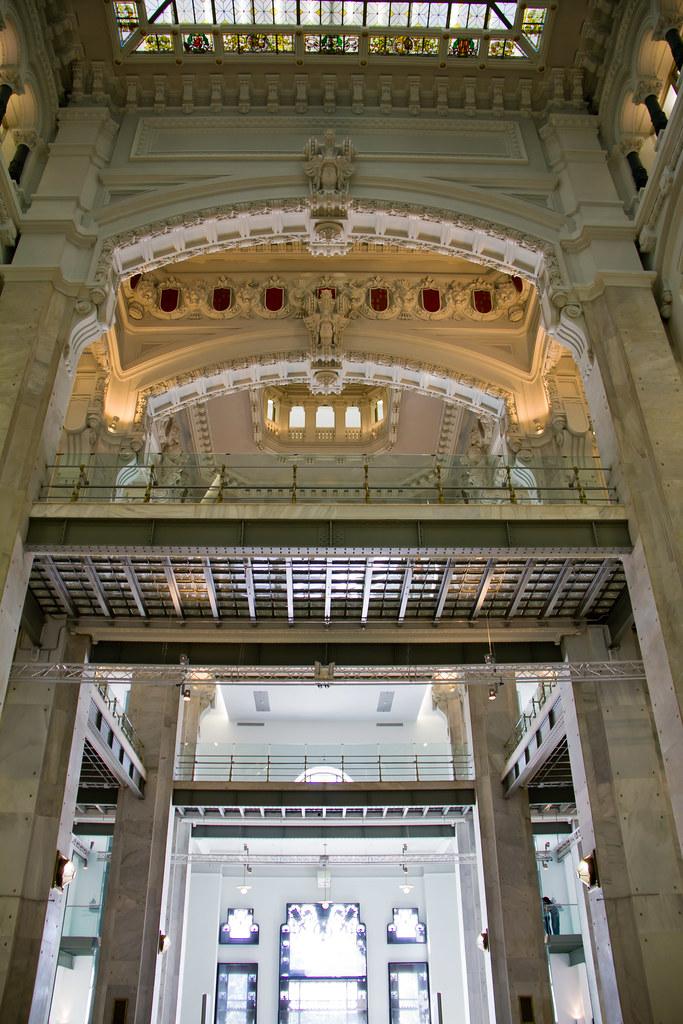 Galerias Hall O Vestibulo Interior Palacio Cibeles Ayuntam