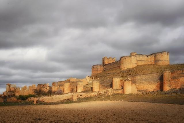 Castillo de Berlanga, cierzo y frío