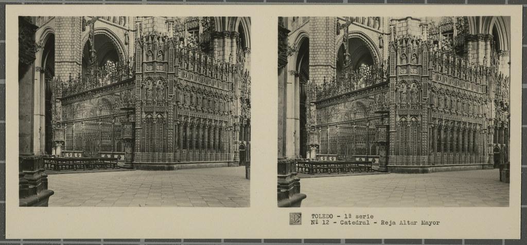 Reja del Altar Mayor de la Catedral. Colección de fotografía estereoscópica Rellev © Ajuntament de Girona / Col·lecció Museu del Cinema - Tomàs Mallol
