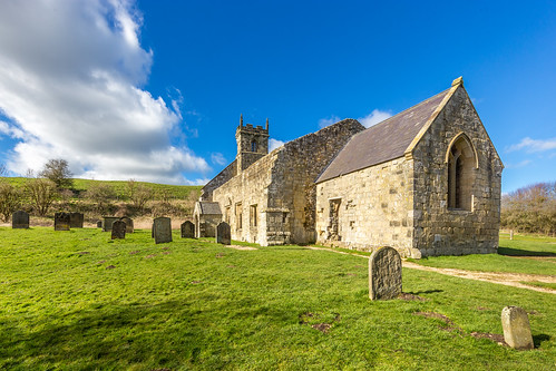 The ruins of St Martin's Church in the deserted medieval village of Wharram Percy | by www.andrewswalks.co.uk