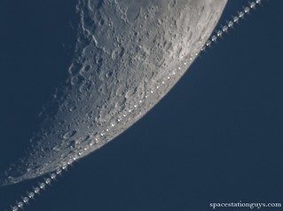 ISS lunar transit - composite photo