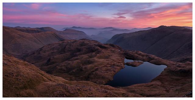 Sunrise over Sprinkling Tarn, The Lake District