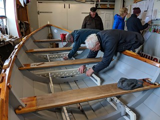 Ferry Lass maintenance 2019   by Queensferry Rowing Club