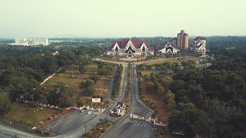 serinegeri melaka kerajaan pentadbiran drone birdview