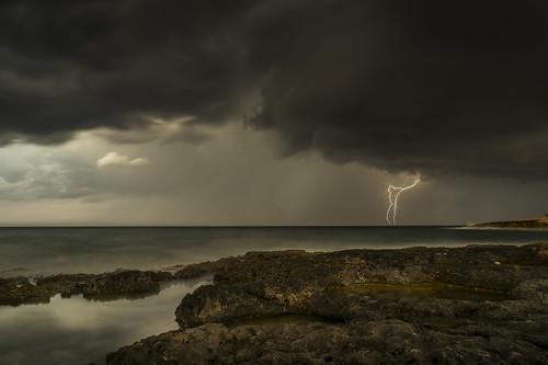 "Bad weather on its way to ""sunny"" Malta. Il-qawwa tan-natura!"
