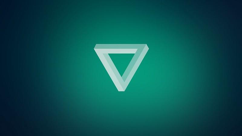 Обои треугольник, свет, темный, форма картинки на рабочий стол, фото скачать бесплатно