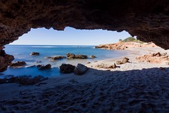 Playa natural de la renegà en oropesa del mar