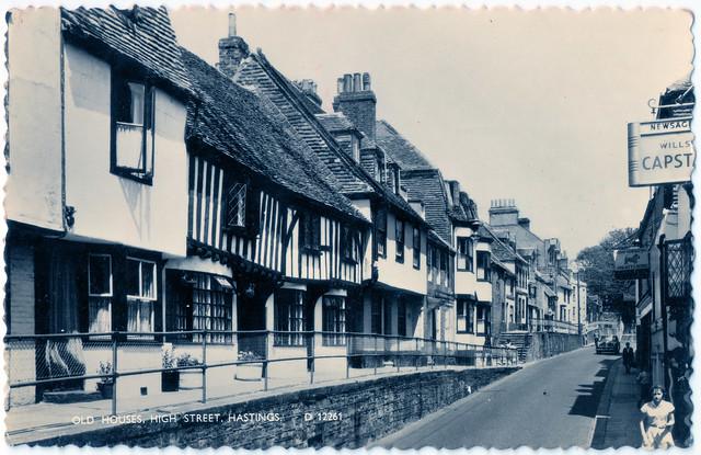 Hastings - High Street - Old Houses