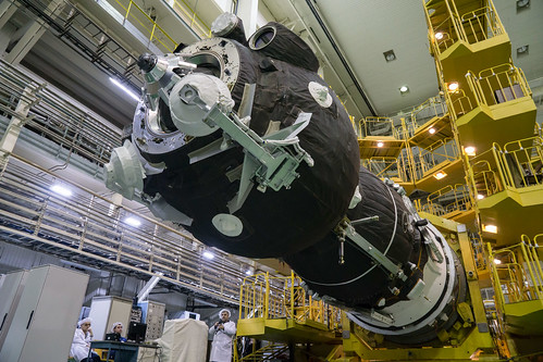 The Soyuz MS-12 spacecraft is ready for encapsulation | by NASA Johnson