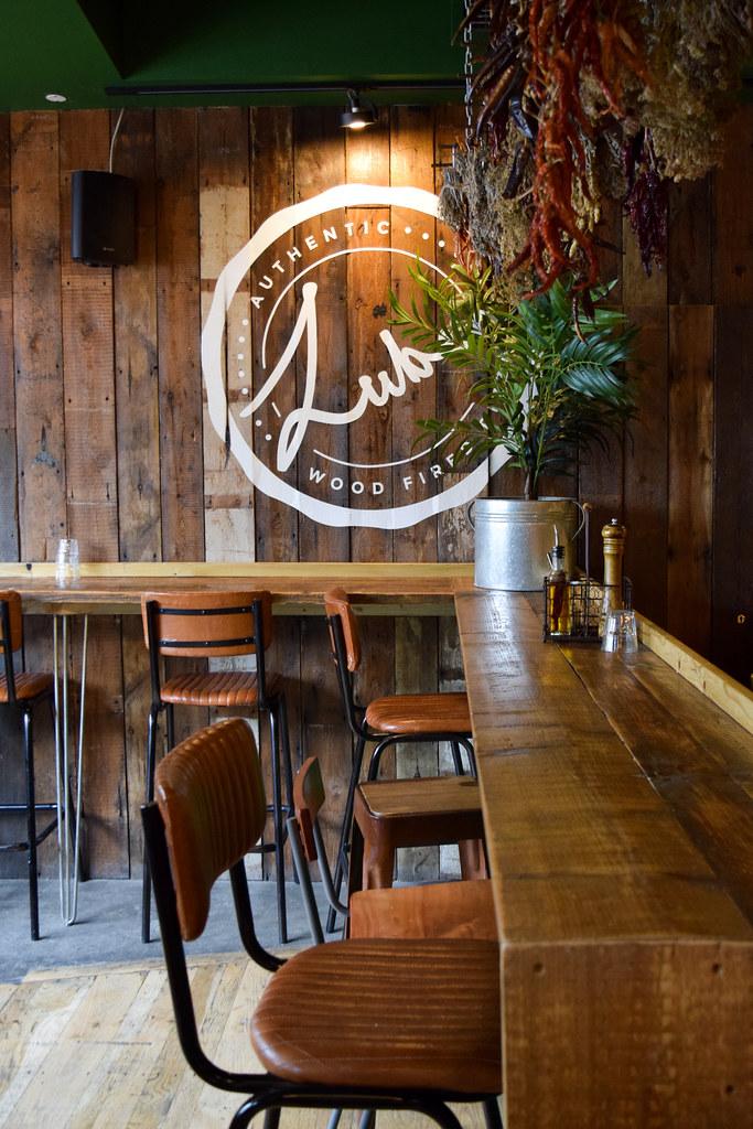 Bar Seating at Luben's Pizza, Folkestone