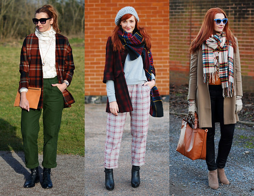 8 Ways to Wear Tartan / Checks / Plaid in Winter | Not Dressed As Lamb, over 40 fashion | by Not Dressed As Lamb