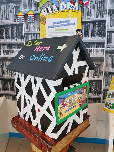 Upper Riccarton Summertime Reading Challenge postbox