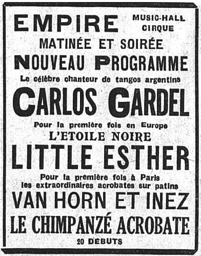 Baby Esther Jones and Carlos Gardel Posters (1929)