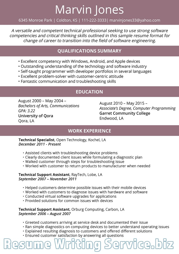 Career Change Resume Format 2019 | Career change resume form