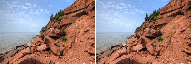 Sandstone Cliffs Meet the Sea