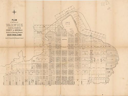 queensland statelibraryofqueensland maps warwick streets condamineriver