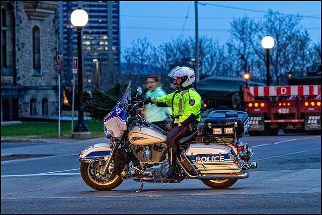 Road Closed Cop