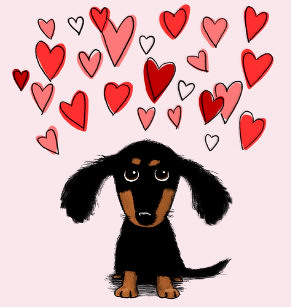 cute_dachshund_with_valentine_hearts_fleece_blanket-r7b50de8a100c4f0e8b65b9e2502cf0e1_zkhkh_307 | by dackelprincess