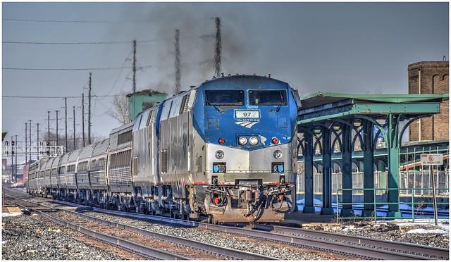 Amtrak Lake Shore Limited Train 48 @ Erie PA