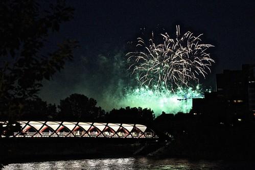 Fireworks and Peace Bridge | by JMacPherson