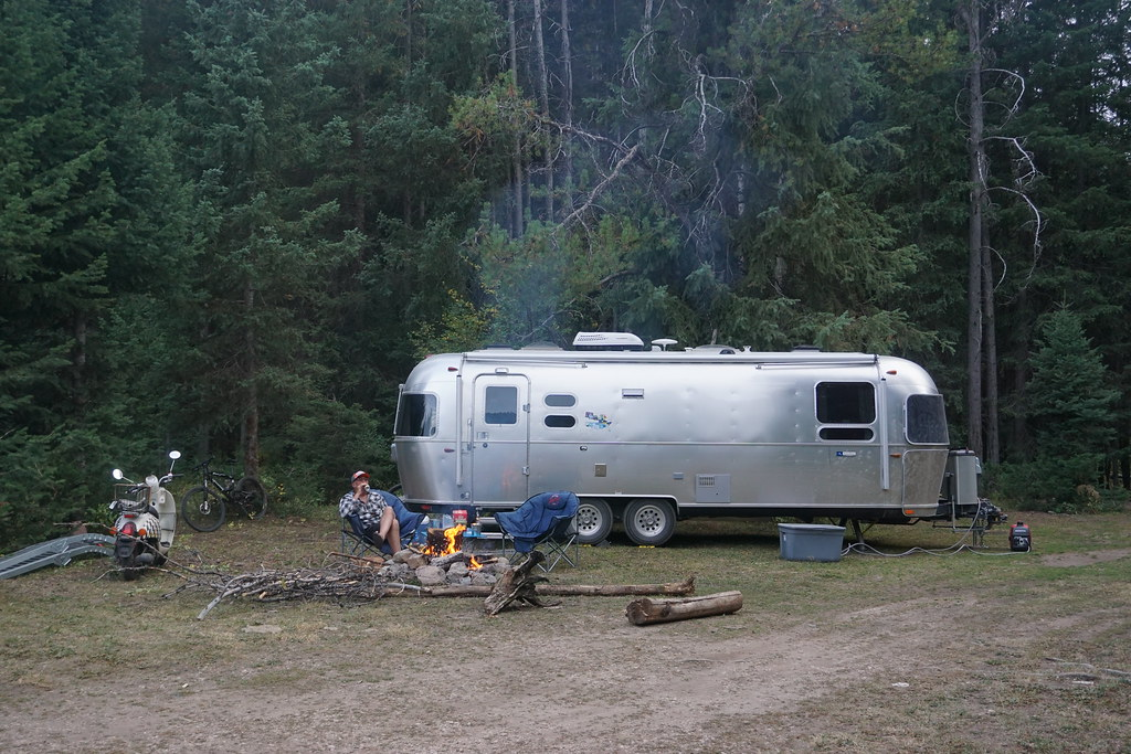 Boondocking in the Targhee National Forest in an Airstream travel trailer